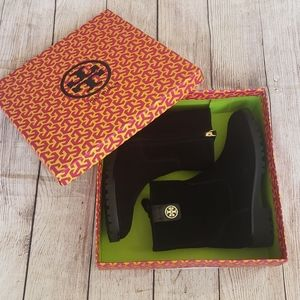NIB Tory Burch Leather and Suede Oakridge Bootie